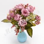 Букет розы пионовидной, сиреневый