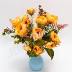 Букет розы пионовидной, абрикосовый