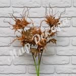 """Цветок декоративный """"Эдельвейс"""", коричневый."""