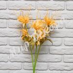 """Цветок декоративный """"Эдельвейс"""", оранжевый."""