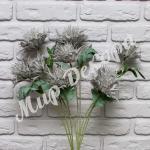 Цветок декоративный, серый.