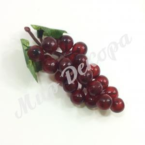 Виноград 13 см, 6 штук. Красный.