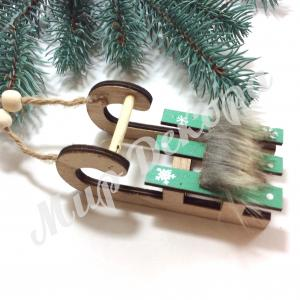 Декор новогодний « Санки»