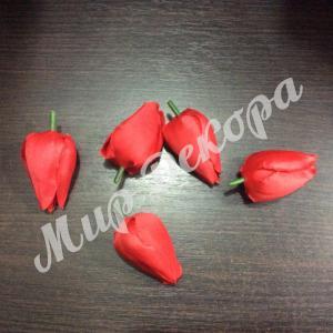 Голова тюльпана красная. 12 шт.
