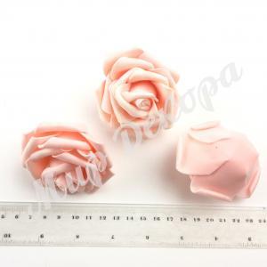 Голова розы латексный 8 см. Персиковая ( 12 шт)