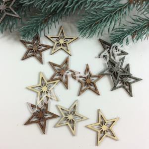 Украшения новогодние из дерева звездочка  оригинальные украшения новогодних праздников