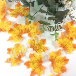 Листья осенние одинарные. Оранжевые . 50 штук