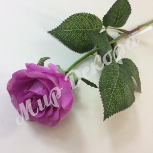 Роза соликоновая. Сиреневая.