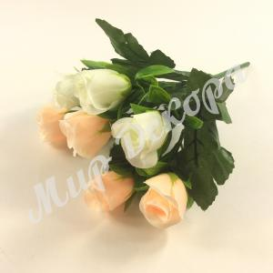 Букет роз в бутонах красивые нежные цвета букетов подойдёт для свадебного фальш букета отлично смотрится в любых цветочных композициях