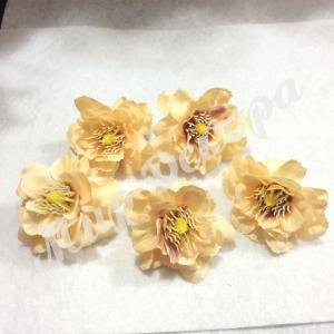 Цветок яблони 5 см. Персиковый. 12 шт.