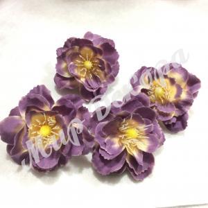 Цветок яблони 5 см. Фиолетовый с персиковым. 12 шт.