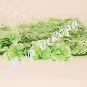 Головка орхидеи (сатин) зеленая